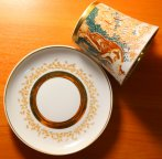"""Фарфоровая чайная пара """"Дева с кувшином"""". Блюдце и чаша. Клеймо ЛФЗ. 1 Сорт. Редкость!"""