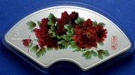 5 долларов 2008 год. Пионы. Цветы небесной красоты. Острова Кука. Серебро! 155 грамм