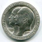 3 марки 1910 год. Пруссия. Университет. Берлин. Серебро