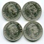 4 монеты! 2 марки 1904,1905,1906 и 1907 год. Вильгельм II. Пруссия. Серебро!