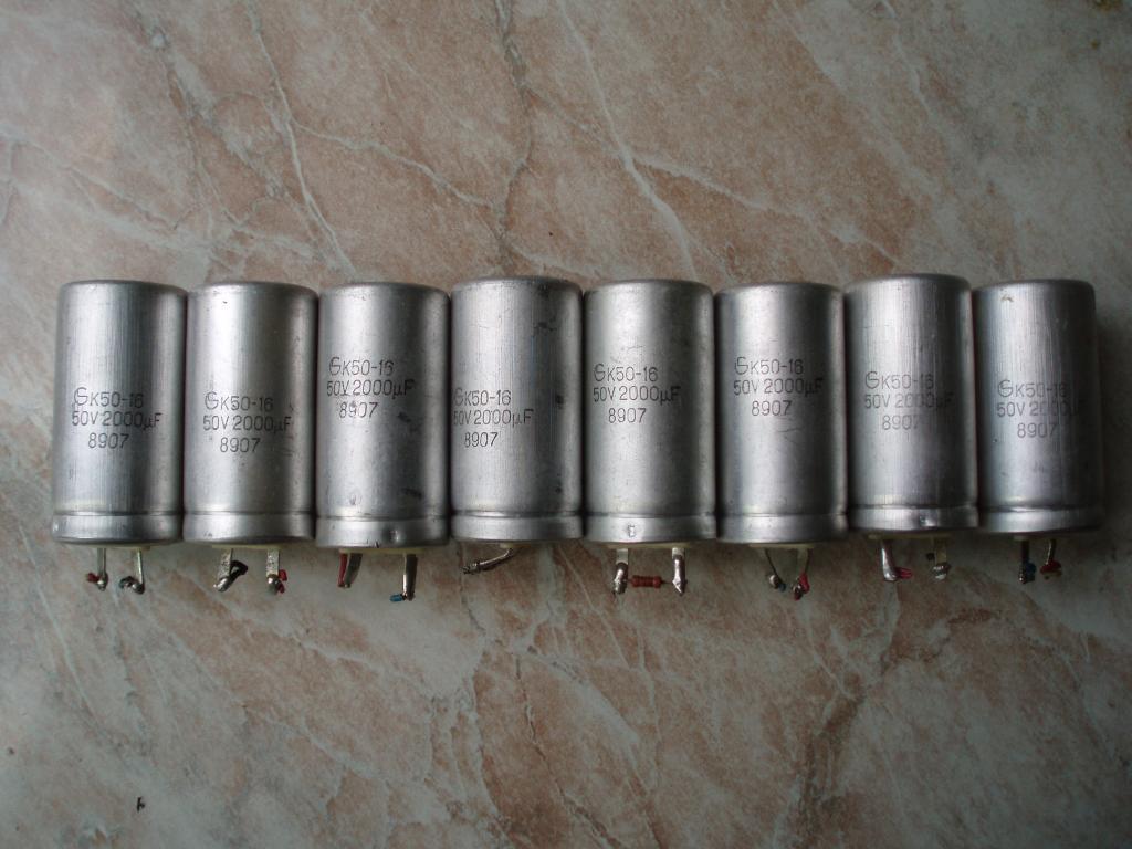 Советских времён СССР Электролитический Конденсатор К50-16 2000 Мкф 50в. 1989 год