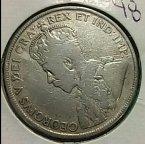 Монета 50 центов Ньюфаундленд 1919г. Серебро.