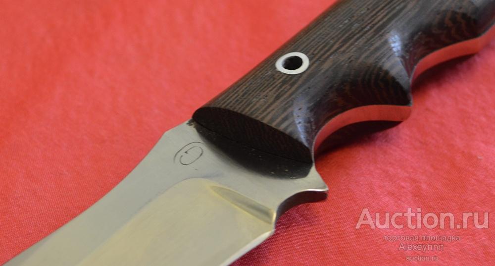 """Тактический цельнометаллический нож """"Клен"""". Кованая сталь Х12МФ. Ручная работа. С рубля!"""