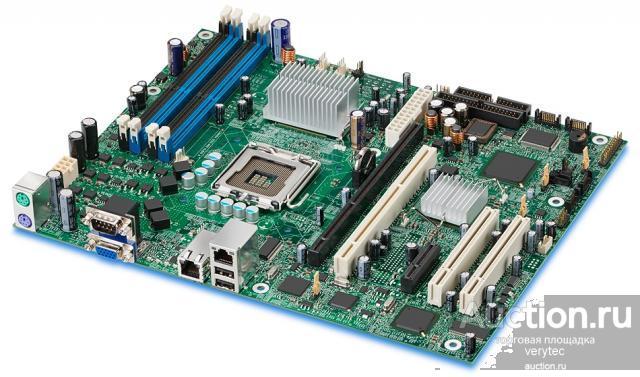 Материнская плата Intel iE3000 S775 4DualDDRII-667 4SATAII U100 PCI-E8x PCI-E1x PCI-X 2PCI 2LAN1000