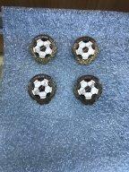 Значки Футбол с Олимпийский игр 1956 ода в Мельбурне -именные 4 шт