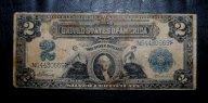 $2 доллара США - series of 1899 года! СЕРЕБРЯНЫЙ СЕРТИФИКАТ! ___RR___