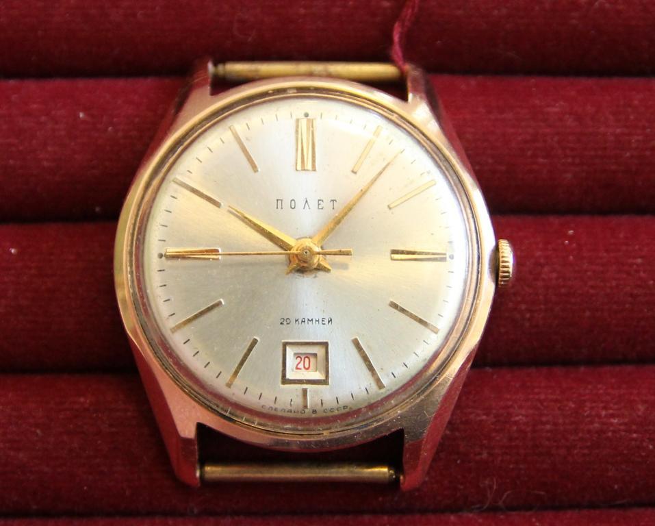 c32839b6 Наручные часы Полет золото 583 пробы СССР 29,61 грамм