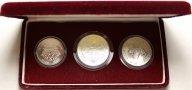 Набор монет XXIV летние Олимпийские игры. Сеул 1988 год. 1000, 10000 и 20000 Вон 1982 год. Серебро!