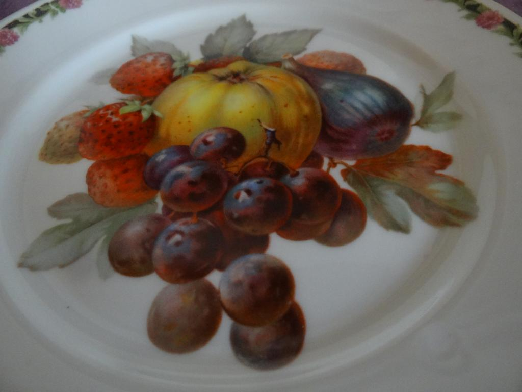 Тарелки Розенталь 6 шт с фруктовым мотивом. Rosenthal Германия.