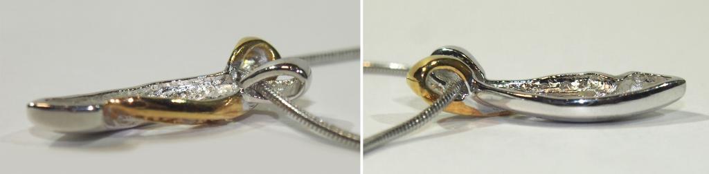Серебряный кулон цепочка подвеска Италия Милан стразы - серебро 925 пр.- 8,1 гр.