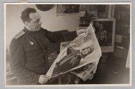 Оригинальная фотография Прессфото Воениздат Редакция Плакат 1940-е 12х18 см