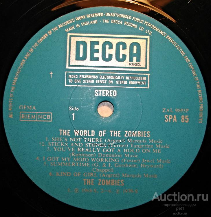 Пластинка виниловая  The Zombies – The World Of The Zombies(UK)