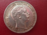 Германия Пруссия 3 марки 1912 (А) Вильгельм II .ОРИГИНАЛ !!СЕРЕБРО . / О 896