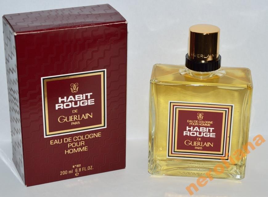 Habit Rouge от Guerlain винтаж 200 мл