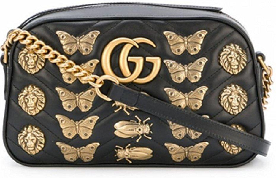 Gucci.Women's GG Marmont Средняя наклонная сумка из Италии