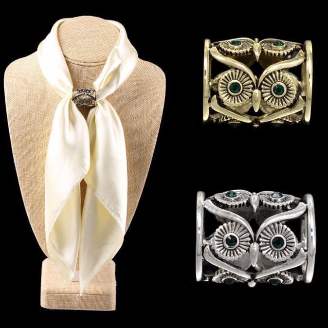 Пряжка для шейного платка ретро сова держатель шелковый шарф бижутерия