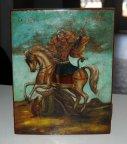 Икона Святого Георгия Победоносца!!! 19 век!