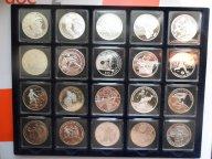 ФУТБОЛ,20 серебряных монет разных стран к чемпионату мира по футболу в ЮАР 2010 года!