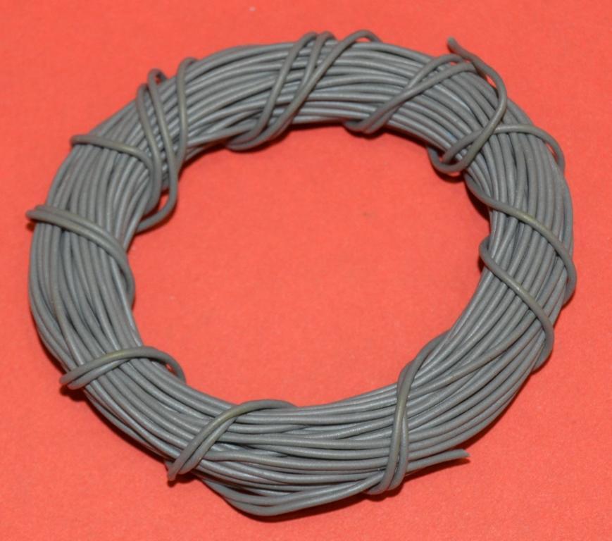 Провод монтажный мягкий, медный, многожильный, (цвет СЕРЫЙ) Лот № П-233