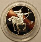 2 рубля 2002 год. Знак зодиака: Стрелец. Пруф. Серебро!