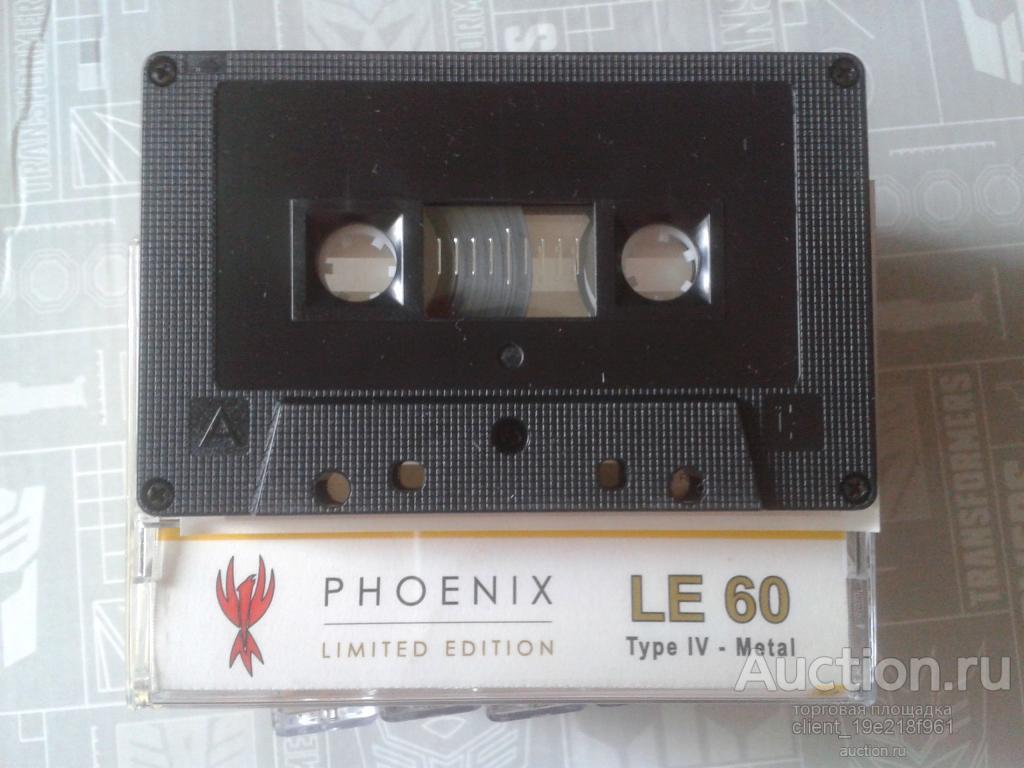 Аудиокассеты PHOENIX LE60 тип 4 METAL новые