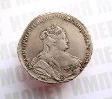 1 рубль 1738 года, буквы СПБ, Биткин R