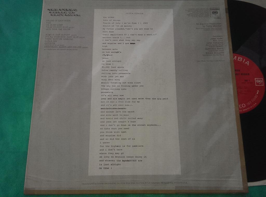 The Byrds / Ballad Of Easy Rider /69/USA/EX++/NM