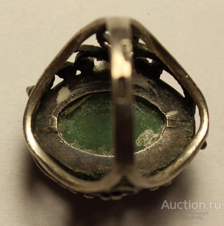 Кольцо женское серебряное с камнем. Клеймо, Серебро, 875 пробы. Вес: 7.1 грамм.