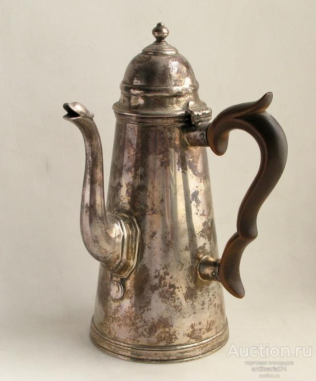 сосуд для горячего шоколада, серебро 925 пробы, высота 185 мм, вес 435 гр., Англия, Лондон, 1912 г.