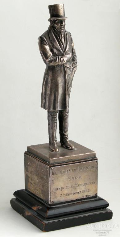 Статуэтка, серебро 925 пробы, дерево, высота 260 мм, общий вес 660 гр., Лондон, 1963 г.