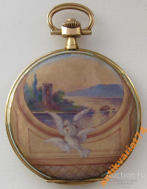 Карманные  LA ROCHETTE, живописная эмаль, золото