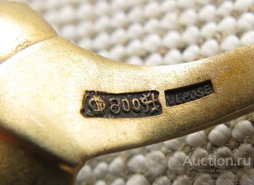 Ложечка с живописной и гильяшированной эмалью, серебро 800 пробы, Германия, начало ХХ в, длина 122 м