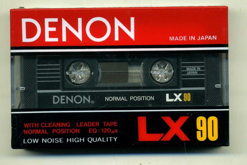 Аудиокассета (аудио кассета) DENON   LX 1985 год  под запись