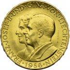 Лихтенштейн. 50 франков 1956 года. СКИДКИ при покупке нескольких штук. qwz. Золото, 0.3267 унции