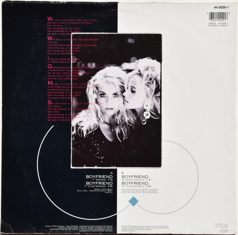"""Lili & Susie (Secret Service) """"Boyfriend"""" 1991 Maxi Single"""
