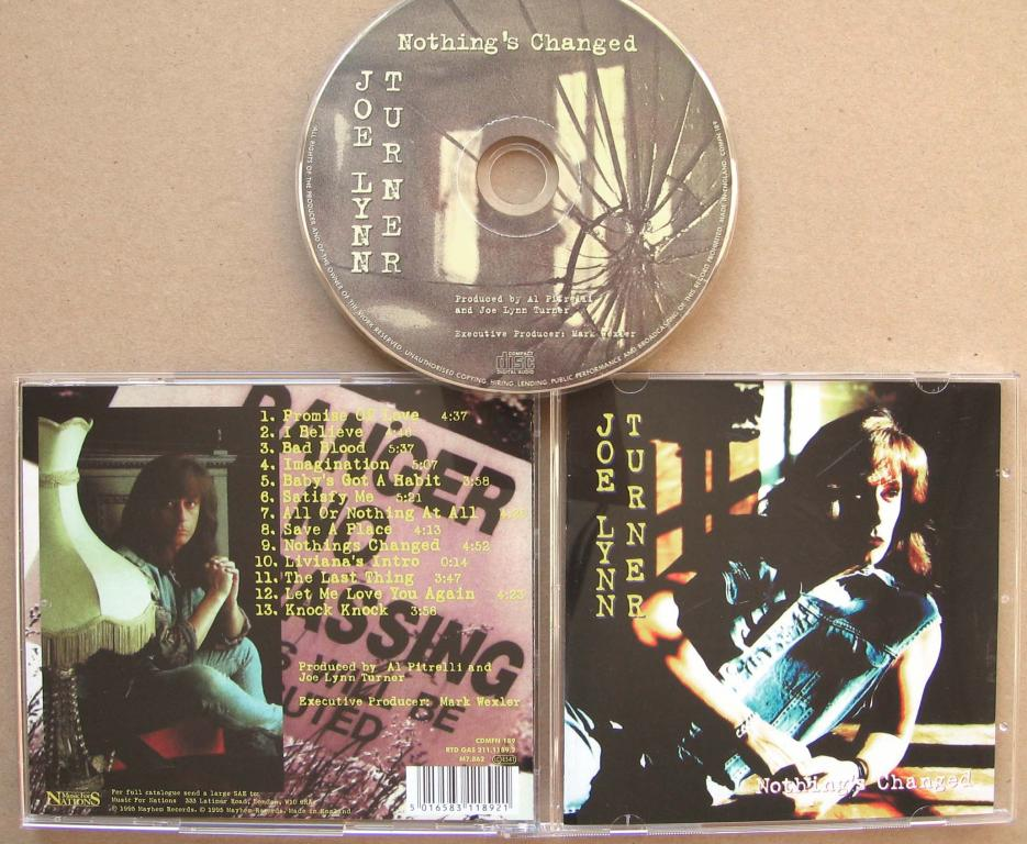 JOE LYNN TURNER Nothing's Changed 1995 Reissue
