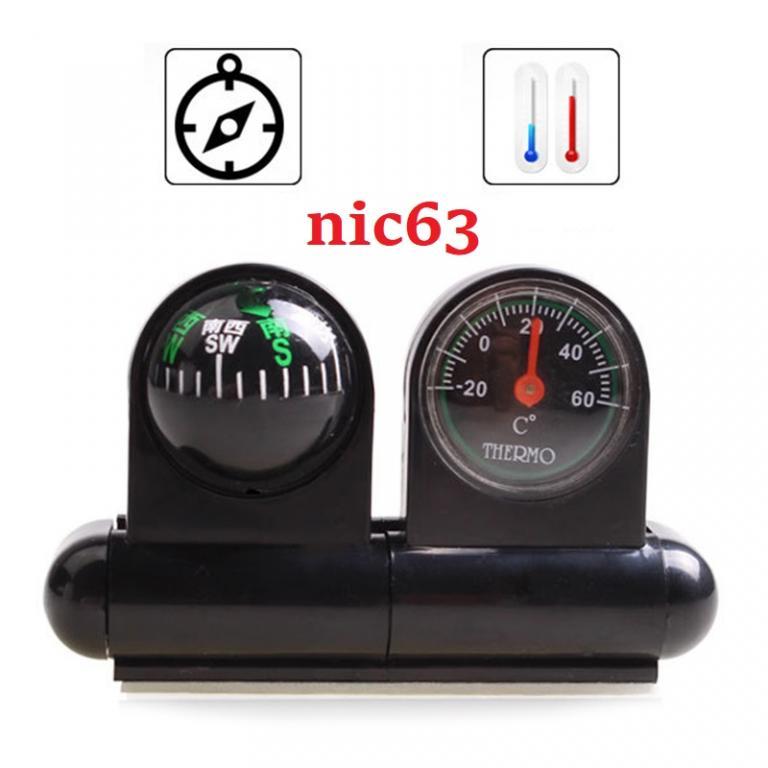 Автомобильный термометр с компасом 41B