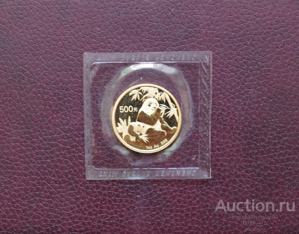 Панда 2007 унция золота