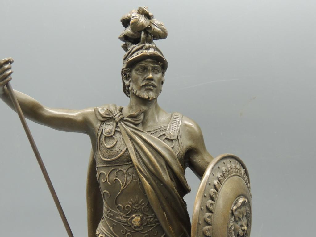 Скульптура Статуэтка Александр Македонский  Бронза Подставка Мрамор Высота 34 С Рубля