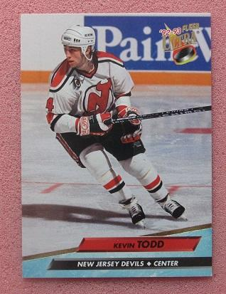 НХЛ Кевин Тодд Нью-Джерси Дэвилз № 121