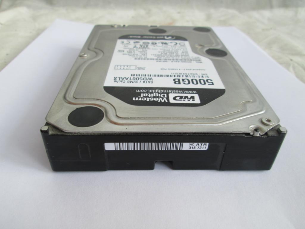 Жесткий диск , винчестер 500 Гб ! Хороший Рабочий винт !!! Western Digital 500 Gb !!! SATA !!!