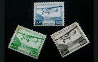 Марки Япония 1929 г. Авиапочта 5 марок Комплект +1. Кат. $190