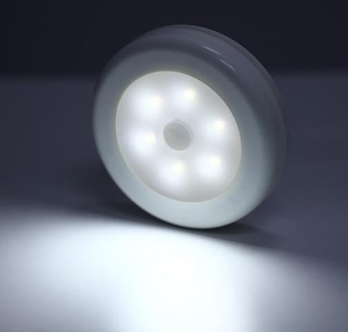 Беспроводной Светильник с Датчиком Движения 6 LED.