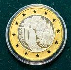 """Памятная монета 500 шиллингов """"Австрия в ЕС"""" 1995 г., 8 гр.(Au986) + 4,7 гр.(Ag900), С РУБ"""