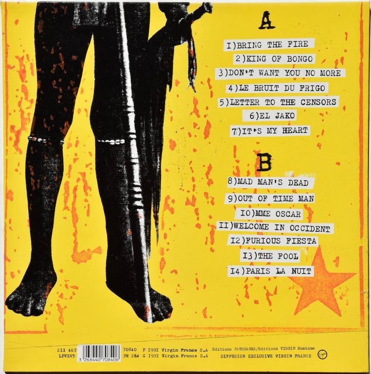 """Mano Negra """"King Of Bongo"""" 1991 Lp"""