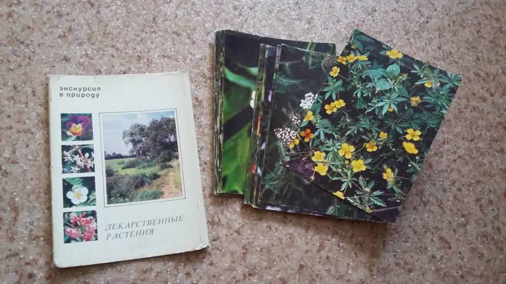 Набор открыток растения переселенцы 1988