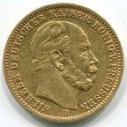 20 марок 1874 год . золото! Вес: 7,91 грамм. Отличный сохран!