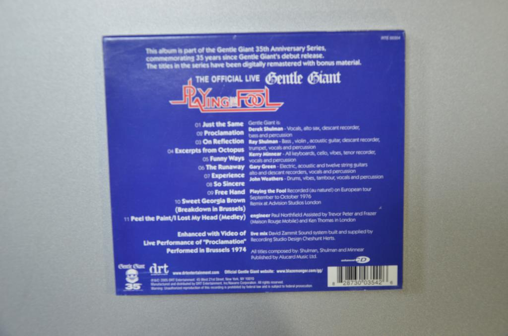 Gentle Giant - Playing The Fool ( 2 CD, Album )