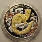 10 долларов 2006 год. Камерун. Либерия. Серебро 999-позолота. Вставка из бриллиантов по 0,02 карат.