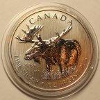 5 долларов 2012 год. Канадская Фауна - Лось. Канада. Серебро!